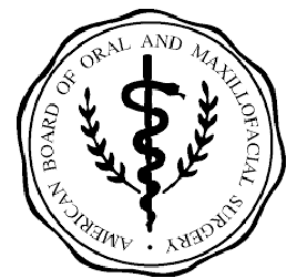 American board of oral and maxillofacial surgery button